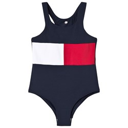 Tommy Hilfiger Navy Flag Swimsuit