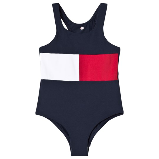 Tommy Hilfiger Navy Flag Swimsuit 416
