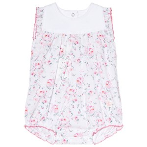Image of Petit Bateau Floral and White Baby Body 3 Months (3001925189)