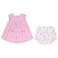 Petit Bateau Pink Dress and Floral Bloomers Set