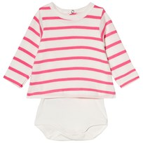Petit Bateau Red and White Stripe Baby Body