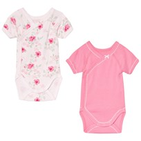 Petit Bateau Floral and Pink 2 Pack Baby Body Set