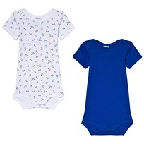 Petit Bateau White Sailor and Blue 2 Pack Baby Body