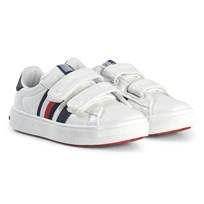 Tommy Hilfiger Leather Velcro Trainers White X008
