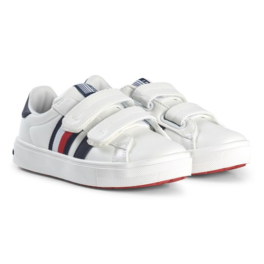 Tommy Hilfiger Leather Velcro Sneakers Vit X008