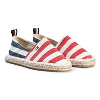 Tommy Hilfiger Branded Espadrilles Navy and Red Y005