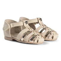 Mayoral Woven Closed Toe Metallic Sandals In Gold 56
