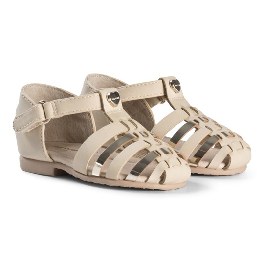 13c0ed53804 Mayoral - Woven Closed Toe Metallic Sandals In Gold - Babyshop.com