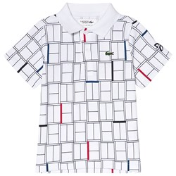Lacoste White Printed Tennis Shirt