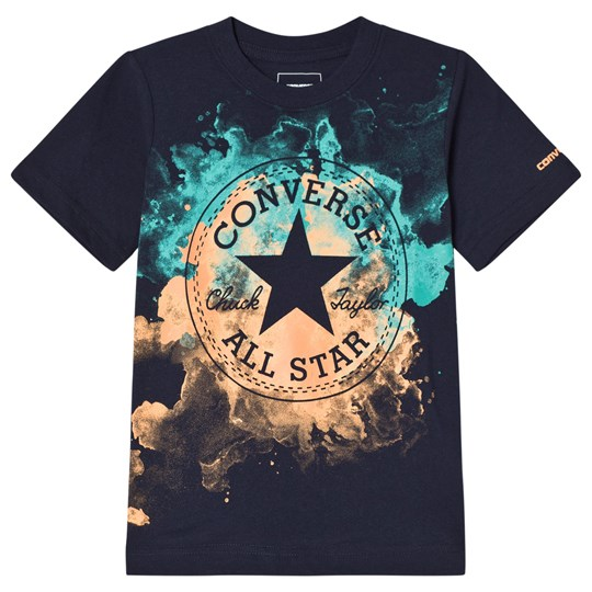 Converse Navy Watercolor Chuck Patch T-Shirt OBSIDIAN