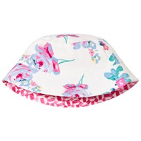 Tom Joule Cream and Floral Reversible Sun Hat Creme Posy (Pip Floral)