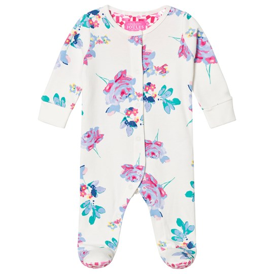 Tom Joule Floral Print Footed Baby Body Creme Posy (Pip Floral)