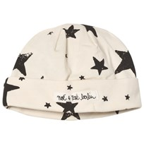 Noe & Zoe Berlin Black Star Print Beanie Black star