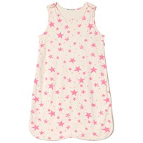 Noe & Zoe Berlin Pink Star Sleeping Bag Ecru Pink Star