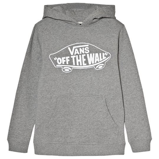 Vans Gray Branded Hooded Pullover CONCRETE HEATHER-WHITE OUTLINE