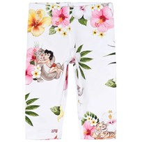 Monnalisa White Floral Jungle Book Print Leggings 9990