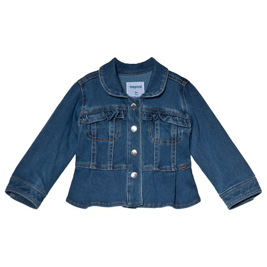 Mayoral Frill Pocket Detail Jeans Jacka Blå 5