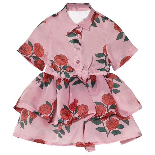 Caroline Bosmans Dress Organza Rose Bush Pink Rose Bush