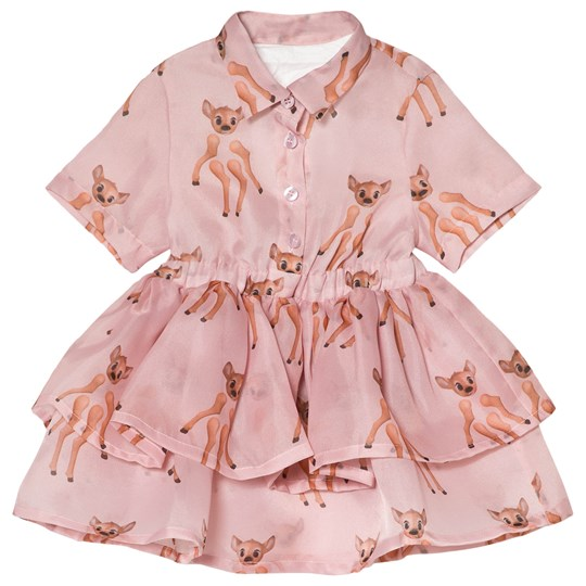 Caroline Bosmans Dress Organza Meat Cut Pink Meat Cut