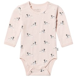 Hust&Claire Peach Whip Stork Print Baby Body