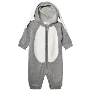 Image of Hust&Claire Light Gray Melange Bunny Baby Body 62 cm (2-4 mdr) (3003086027)