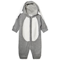 Hust&Claire Light Gray Melange Bunny Baby Body Light Grey Melange