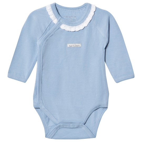 Hust&Claire Ever Blue Long Sleeved Baby Body Ever blue
