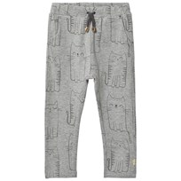 Hust&Claire Light Gray Melange Cat Pants Light Grey Melange