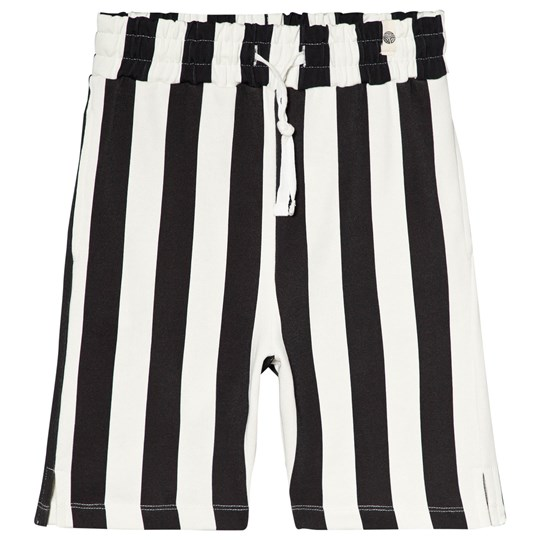 Popupshop Stripe Sweat Shorts Black/Off White Stripe Black/Off White