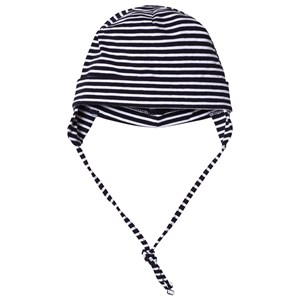 Image of Maximo Baby Hat with Earflaps Navy and White 43 cm (3003085621)
