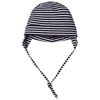 Maximo Baby Hat with Earflaps Navy and White Navy/White