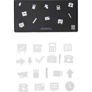 Image of Design Letters Office Icons for Message Board White (20 Pack) (3003086849)