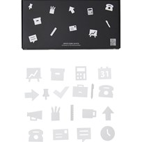 Design Letters Office Icons for Message Board White (20 Pack) White