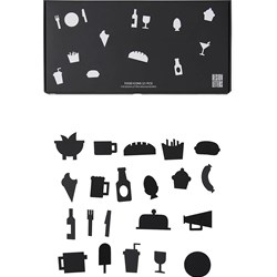 Design Letters Food Icons for Message Board Black (21 Pack)