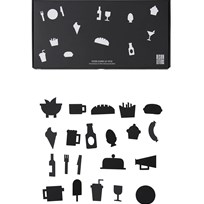 Design Letters Food Icons for Message Board Black (21 Pack) Black