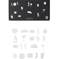 Design Letters Food Icons for Message Board White (21 Pack) White