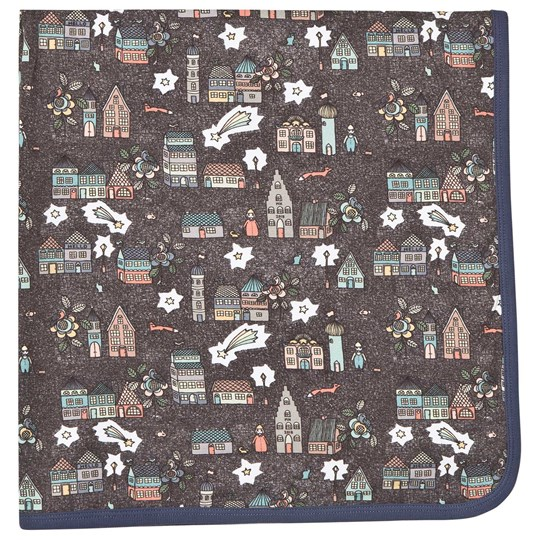 Modéerska Huset Baby Blanket Monkey Business/Night City Light Green/Brown