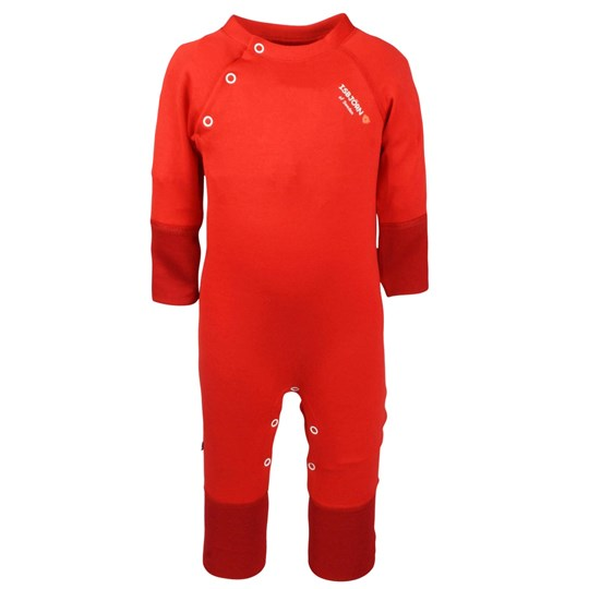 Isbjörn Of Sweden Thin Baby Jumpsuit Lava Red Red