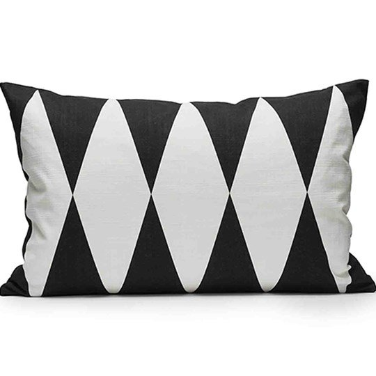 Littlephant Decoration Cushion Harlequin - Black/White Musta