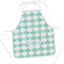 Littlephant Kids Apron Big Waves/Aqua Aqua/White