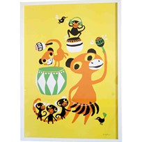 Littlephant Graphic Print Affisch Bongo Party Yellow