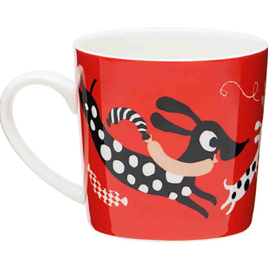 Littlephant Small Porcelain Mug Cat Fun - Red Red