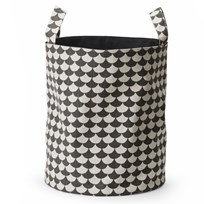 Littlephant Large Soft Basket Waves - Black/Grey Multi