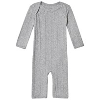 Noa Noa Miniature Gray Melange Long Sleeve Jumpsuit Grey Melange