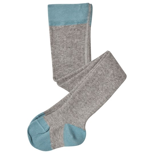 Noa Noa Miniature Gray and Turquoise Melange Tights Grey Melange