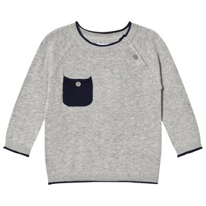 Image of Noa Noa Miniature Gray and Navy Long Sleeved Pullover 12M (3006286413)