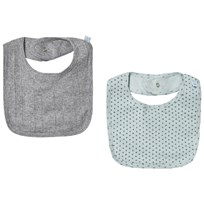 Noa Noa Miniature Gray and Cloud Blue Pack of 2 Bibs cloud blue