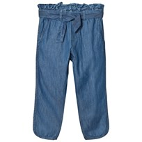 Noa Noa Miniature Blue Belted Denim Pants Denim Blue