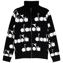 Diadora Black All Over Branded Bomber Sweater 110