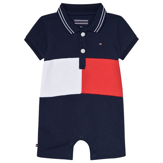 Tommy Hilfiger Navy Flag Polo Romper 002